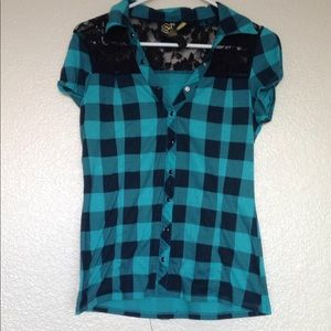 Other - Youth size large plaid shirt